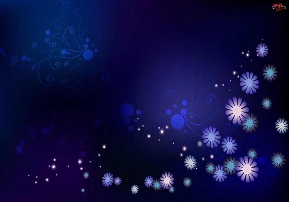 Tło, Kwiatki, Niebieskie