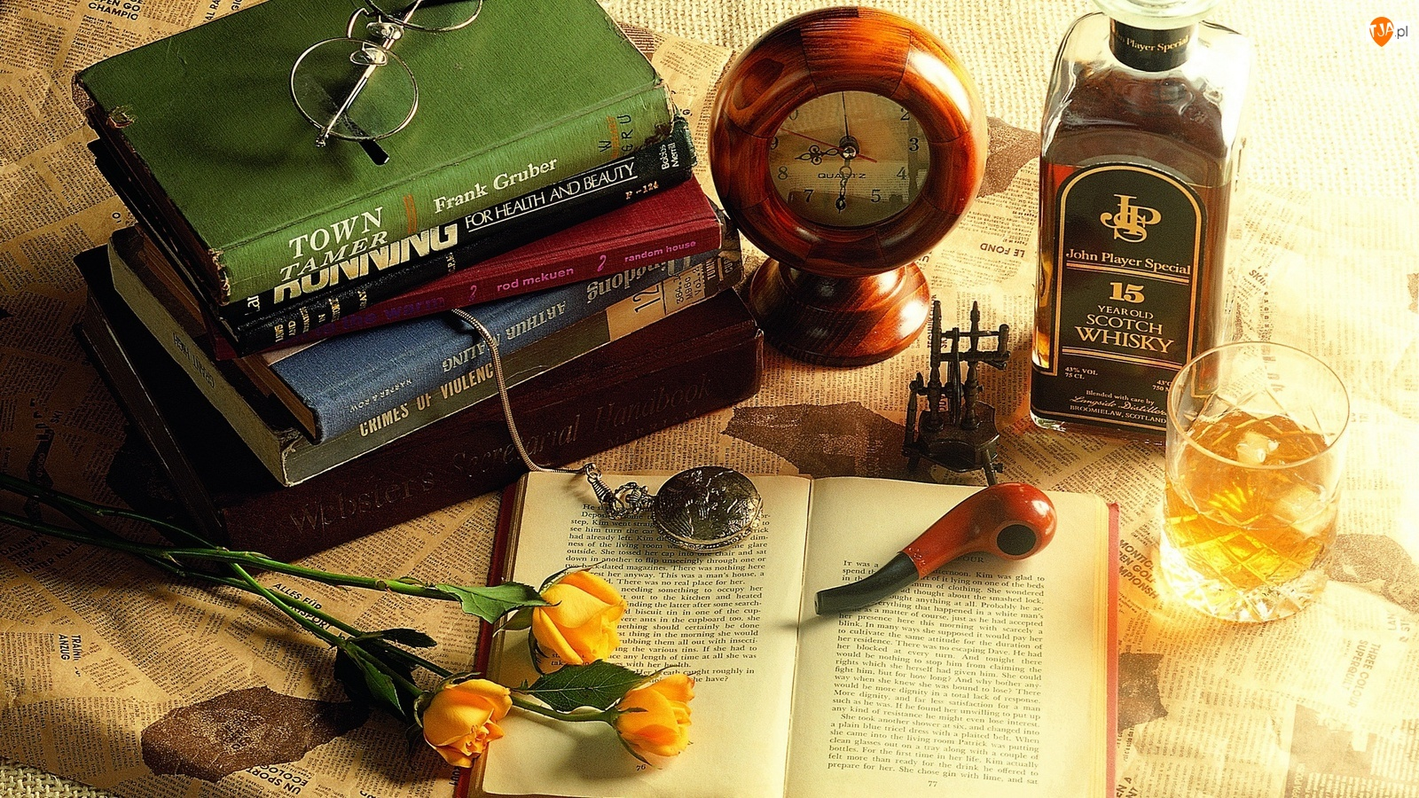 Szkocka, Książki, Whisky, Fajka