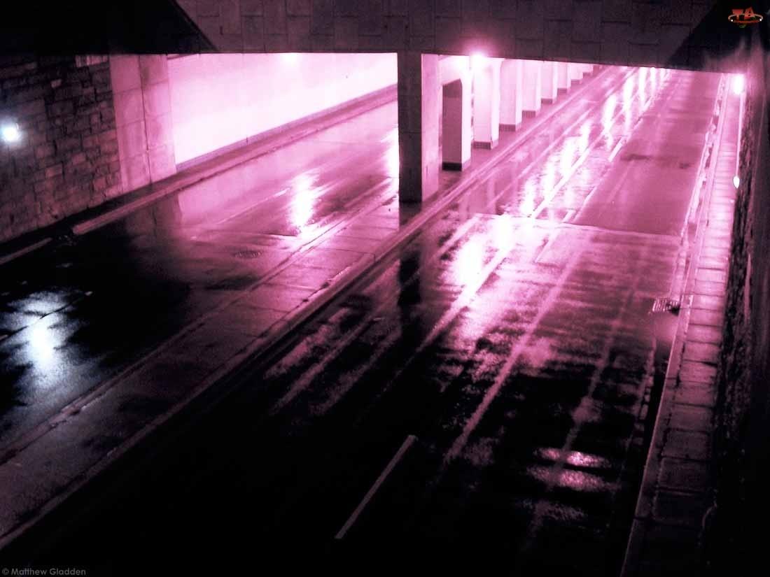 Fiolet, Oświetlony, Tunel