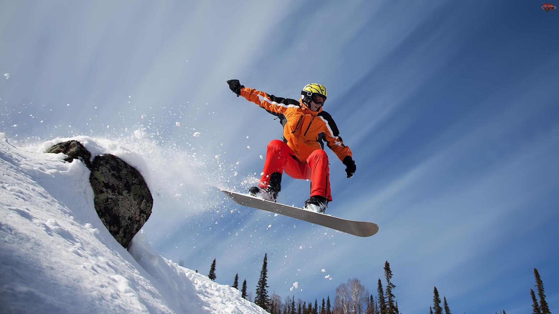 Snowboardzista, Zbocze, Śnieg