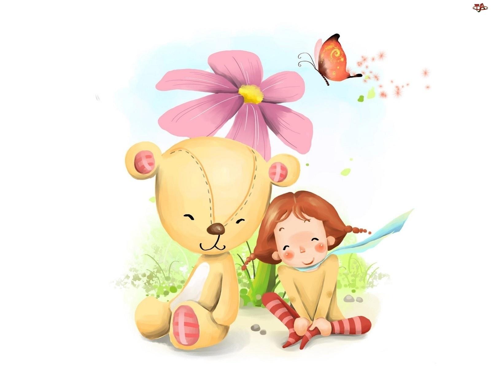 Kwiat, Dziecko, Misiu