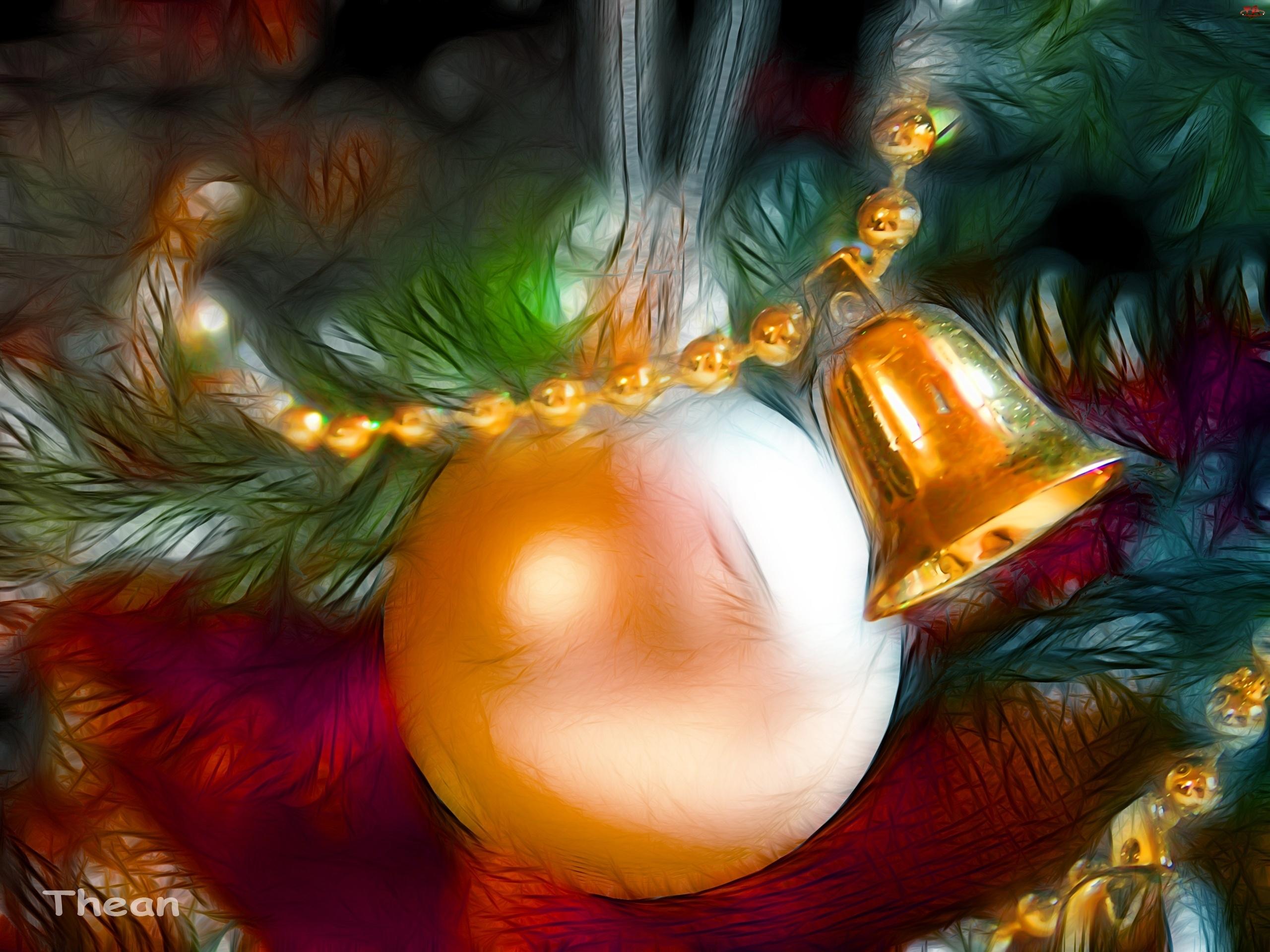 Bombka, Święta, Boże, Fractalius, Narodzenie, Dzwoneczek