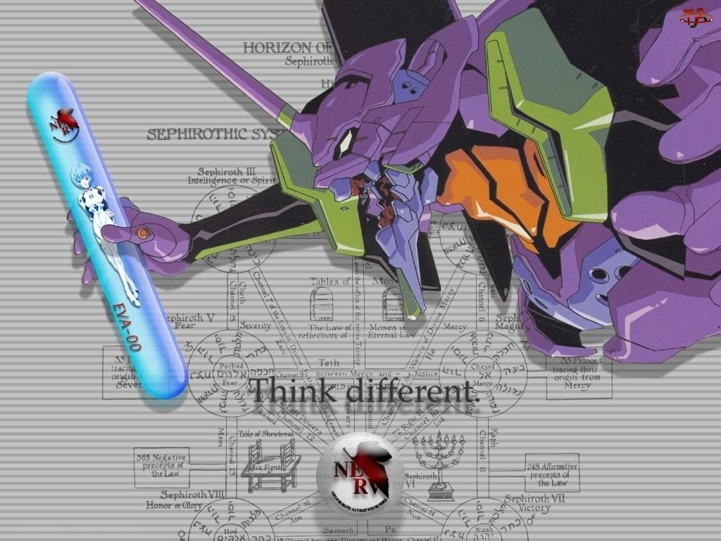 Neon Genesis Evangelion, postać, apple, style