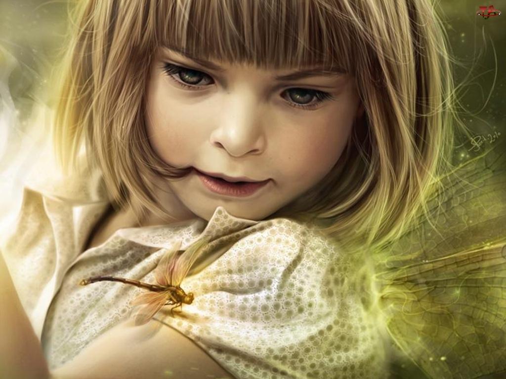Ważka, Dziewczynka, Motyl