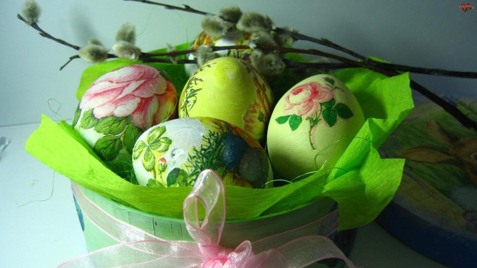 Koszyk, Jajka, Bazie, Wielkanocne