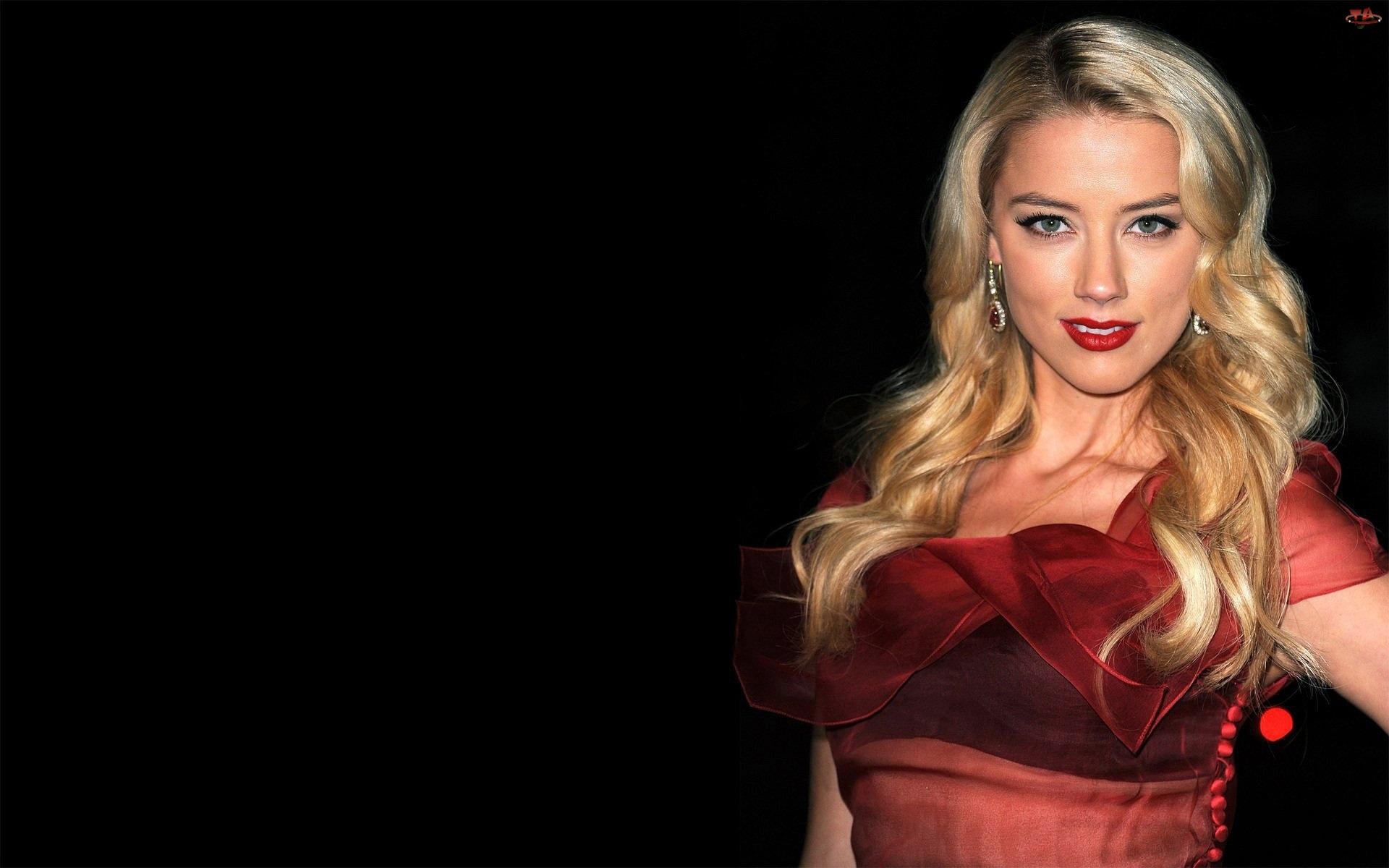 Sukienka, Amber Heard, Włosy, Blond, Kolczyki