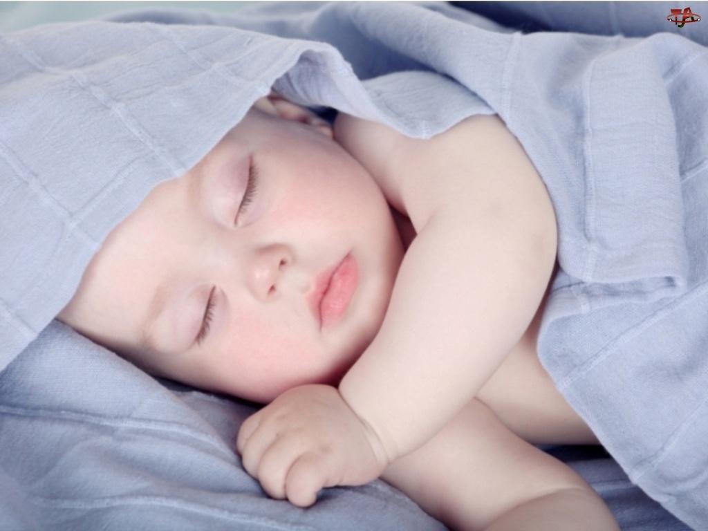 Śpiące, Chusta, Dziecko, Rączka