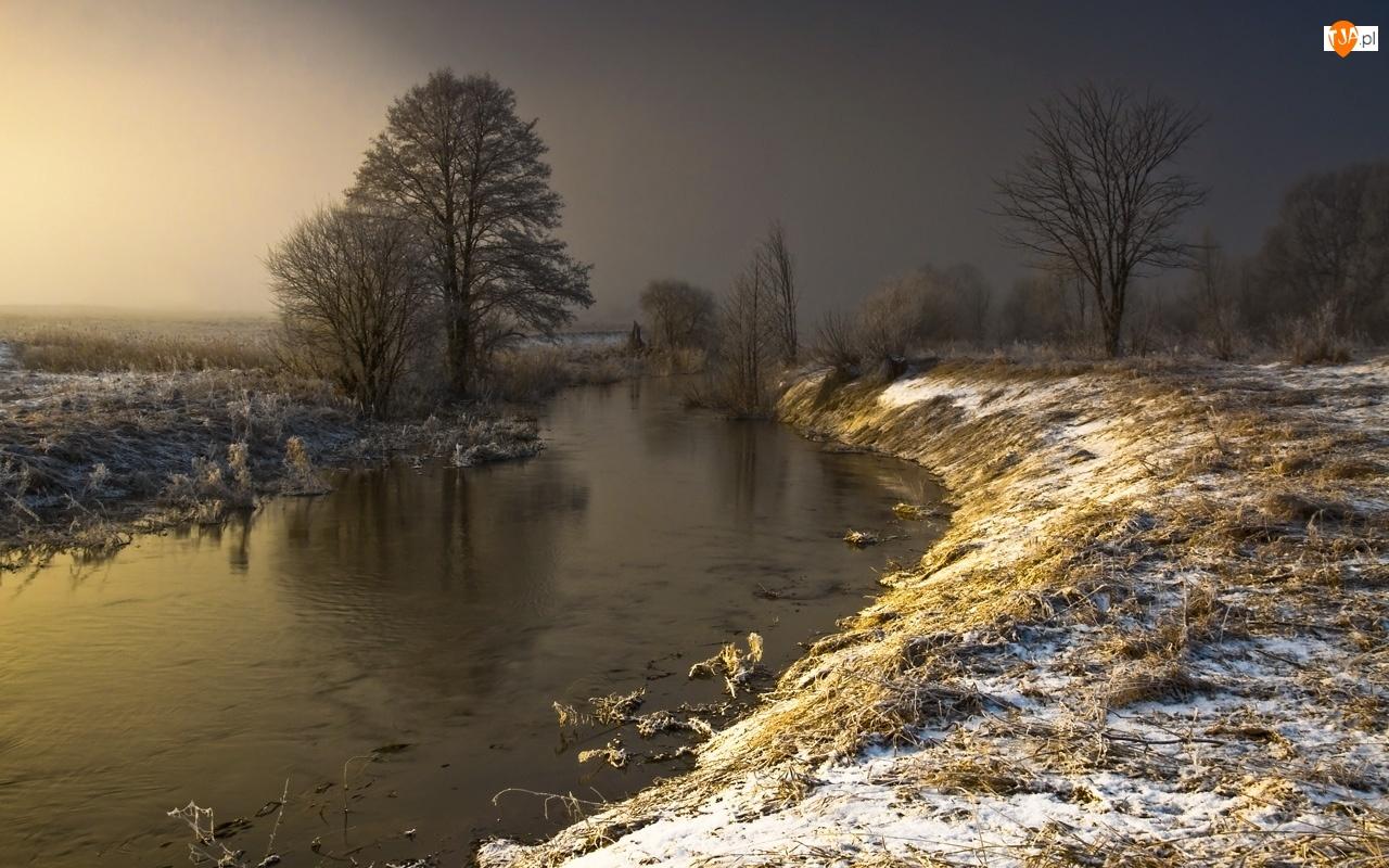 Zima, Rzeka